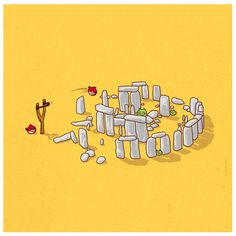 threadless:    'The Stonehenge Level' by the talented TangYauHoong   Tang's website | Tang's Flickr | Tang's Facebook Page  - AL