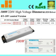 44.10$  Watch now - http://alij1w.worldwells.pw/go.php?t=1421469092 - Free Shipping Hot sale 100W dimming LED driver, 0-10V Dimmable switch, 220V LED driver, 1 channel DM9120H-V series