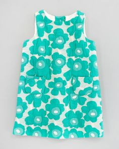 Poppy Brocade Pocket Shift Dress by Milly Minis at Neiman Marcus.