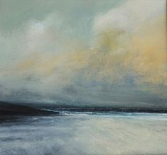 """""""January Morning Clearing, West Sandwick"""" by Ruth Brownlee (New work) - Mixed media on board"""
