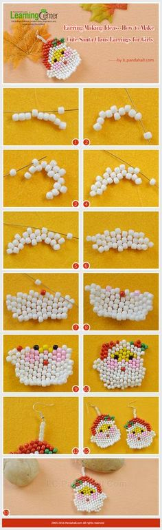 Earring Making Ideas--How to Make Cute Santa Claus Earrings for Girls from LC.Pandahall.com