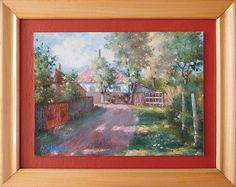 Evening in Naeni original framed oil painting Oil, The Originals, Unique Jewelry, Handmade Gifts, Frame, Painting, Etsy, Vintage, Kid Craft Gifts