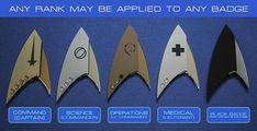 Star Trek découverte insignes Badges grades personnalisés