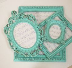 Shabby Chic Picture Frames Set Picture by MountainCoveAntiques, $68.00
