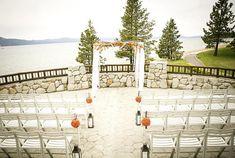 Lake Tahoe wedding ceremony at Edgewood Tahoe.