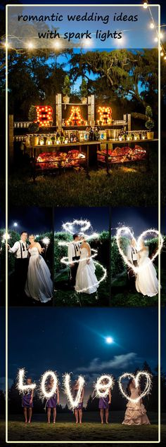 romantic spark lights wedding inspiration