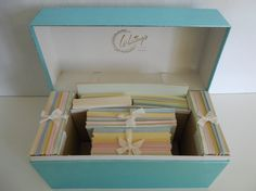 ~~Vintage stationary set  pastel colors Whitings stationary box~~