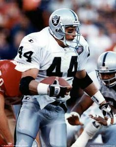 Tom Rathman Los Angeles Raiders Oakland Raiders Silver and Black
