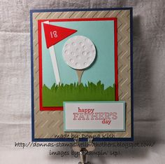 Is this cute or what?  I was looking at my embossing folders and thought the Decorative Dots might make a great golf ball.  I think I was right, what do you think?