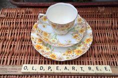 Pair Vtg Royal Albert Bone China Yellow White Tea Cup Saucer Plate 1939 Maryland    eBay