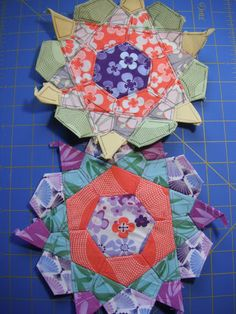 English Paper Piecing-this would be pretty appliqué
