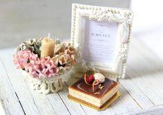 12th scale Dollhouse miniature Dessert- Chocolate Opera Cake