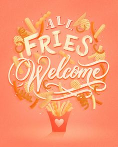 Collection of digital food lettering and illustrations. Hand drawn in Procreate on the Ipad Pro. Typographic Design, Typography, Bullet Journal Banner, Food Illustrations, Lettering Design, Wall Murals, Iphone Wallpaper, How To Draw Hands, Doodles