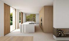 Open-plan, daylit House in La Cañada embraces its natural surroundings Patio Grande, Open House Plans, Interior Architecture, Interior Design, Minimal Home, New Home Designs, Cozy House, Open Plan, Building Design