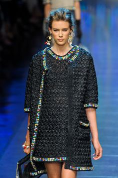 Dolce & Gabbana at Milan Fashion Week Spring 2012 - Runway Photos