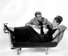 Audrey and George Peppard in a publicity photograph for 'Breakfast At Tiffany's' (1961).
