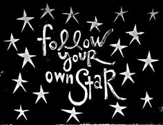 follow your own star linocut print