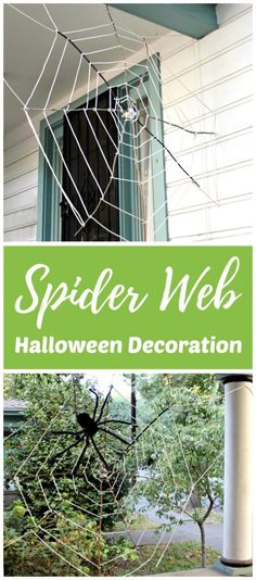 How to Make a Giant Stick Spider Web Halloween Decoration Crafts - spider web halloween decoration