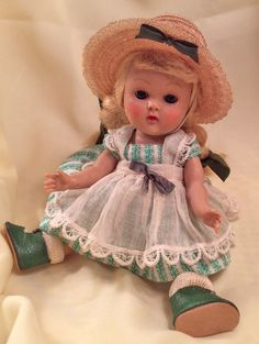 "VINTAGE VOGUE STRUNG 8"" GINNY DOLL 1953 ""Lucy"" #39, From Tiny Miss Series. Cute!"