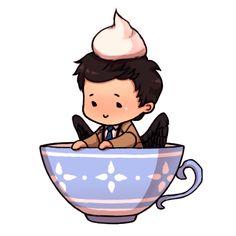 Castiel fanart so cute