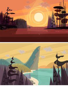 http://theconceptartblog.com/2013/05/21/cenarios-do-ceriado-total-drama-island/