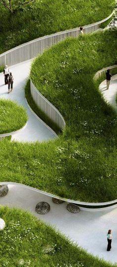 Urban Landscape, Landscape Design, Landscape Architecture, Land Scape, Golf Courses, Modeling, Landscaping, Study, Bath