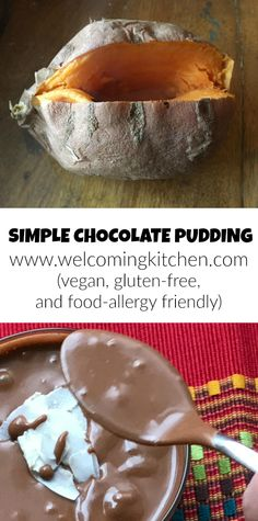 Simple Chocolate Pudding (vegan, GF, and food-allergy friendly) - www.welcomingkitchen.com
