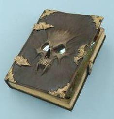 Spell Book-Necromancy <3<3 love those altered books--<3<3 #Spell books #halloween altered books #creepy spell books