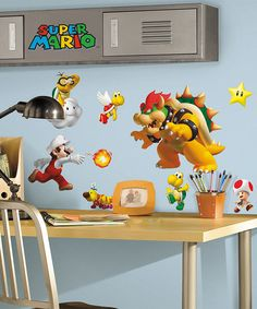 Loving this Nintendo Super Mario Peel & Stick Decal Set on #zulily! #zulilyfinds