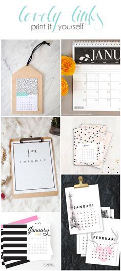 Print it Yourself: Kalender für 2015. Ein neuer Kalender für 2015 ist dank Pinterest ganz schnell ausgedruckt.