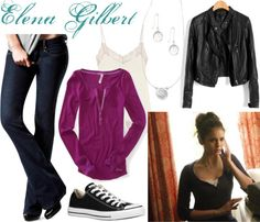 Really liking layering - think I need to do it more - Nina Dobrev as Elena Gilbert