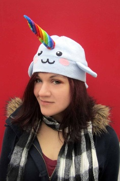 Rainbow Narwhal by AthenasWink on Etsy, $25.00