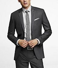 PINSTRIPE STRETCH WOOL PRODUCER SUIT JACKET