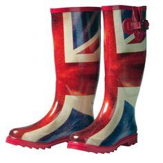 union jack wellingtons. I WANT THESE.