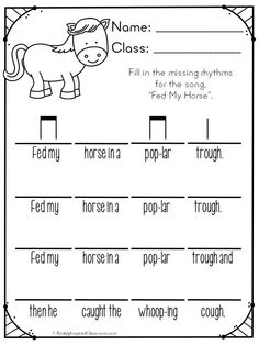 Fed My Horse: This song is great for teaching ti-tika in the elementary music classroom. #Kodaly #Orff #elmused #musiceducation