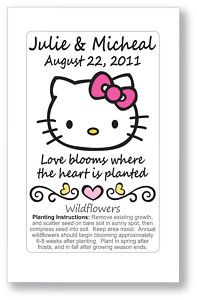 50 Hello Kitty Wedding or Bridal Shower Wildflower Seed Packet Favors | eBay