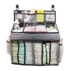 DaliWay Playard Diaper Caddy & Baby Nursery Organizer, Gray Diaper Organizer