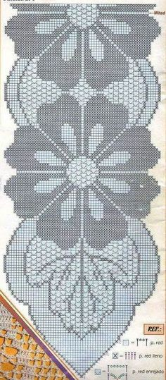"""""""Top interior design programs you can attend - Crochet Filet"""", """"This post was discovered by şer"""", """"No pattern just for inspiration…. Filet Crochet, Crochet Motif, Crochet Doilies, Crochet Flowers, Knit Crochet, Crochet Stars, Thread Crochet, Crochet Stitches, Crochet Table Runner Pattern"""
