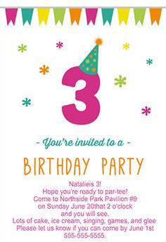 632 Best 3rd Birthday Party Images On Pinterest In 2018