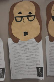 Moore News: Benjamin Franklin,George Washington and Abraham Lincoln Reports by Second Graders