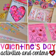 Candy Heart Pattern FREEBIE plus all my favorite Valentine's Day themed writing, math, fine motor, sensory, literacy, and science activities for preschool and kindergarten.