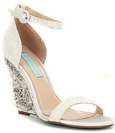 832ecaf674b6 Blue by Betsey Johnson Alisa Wedge Sandals  Dillards Blue Wedding Shoes