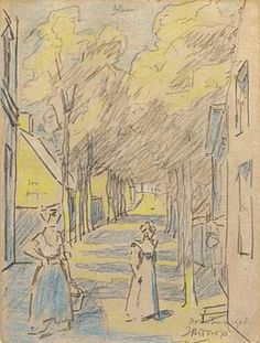 Dorpsstraat, Domburg, Jan Toorop, 1908