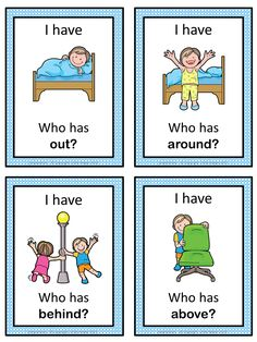 Free! I have Who has game. Have your students play this game to practice and review prepositions.