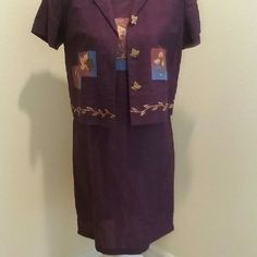 Dress Sale! Never worn work dress, beautiful deep purple color. Can be worn without short sleeve jacket Dresses Maxi