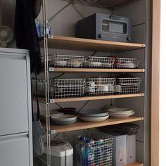 Kitchen Organization, Kitchen Storage, Kitchen Gifts, Kitchen Decor, Home Coffee Stations, Apartment Makeover, Storage Design, Commercial Kitchen, Cuisines Design