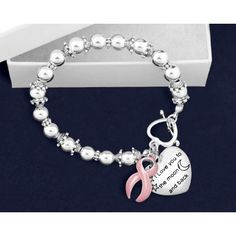 To The Moon and Back Pink Ribbon Bracelet
