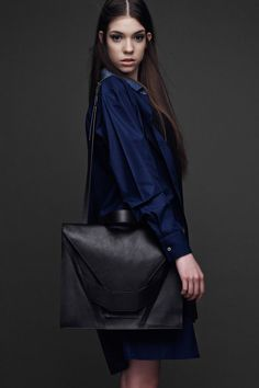 Fashionably Folded Accessories : Linda Sieto Leather Bag