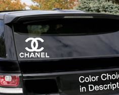 Chanel Vinyl Sticker Car Chanel decals Designer decal Designer logo