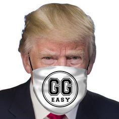 GG Easy gamer mask, funny mask, Donald Trump mask, funny protection mask, covid-19 mask, corona mask, Funny Outfits, Funny Clothes, Funny Face Mask, Face Masks, Trump Mask, Facial, Game Face, Funny Posters, Funny Games